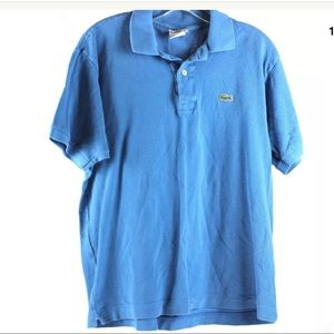 Lacoste Blue Polo Shirt Club House Sz 5 Large aa9